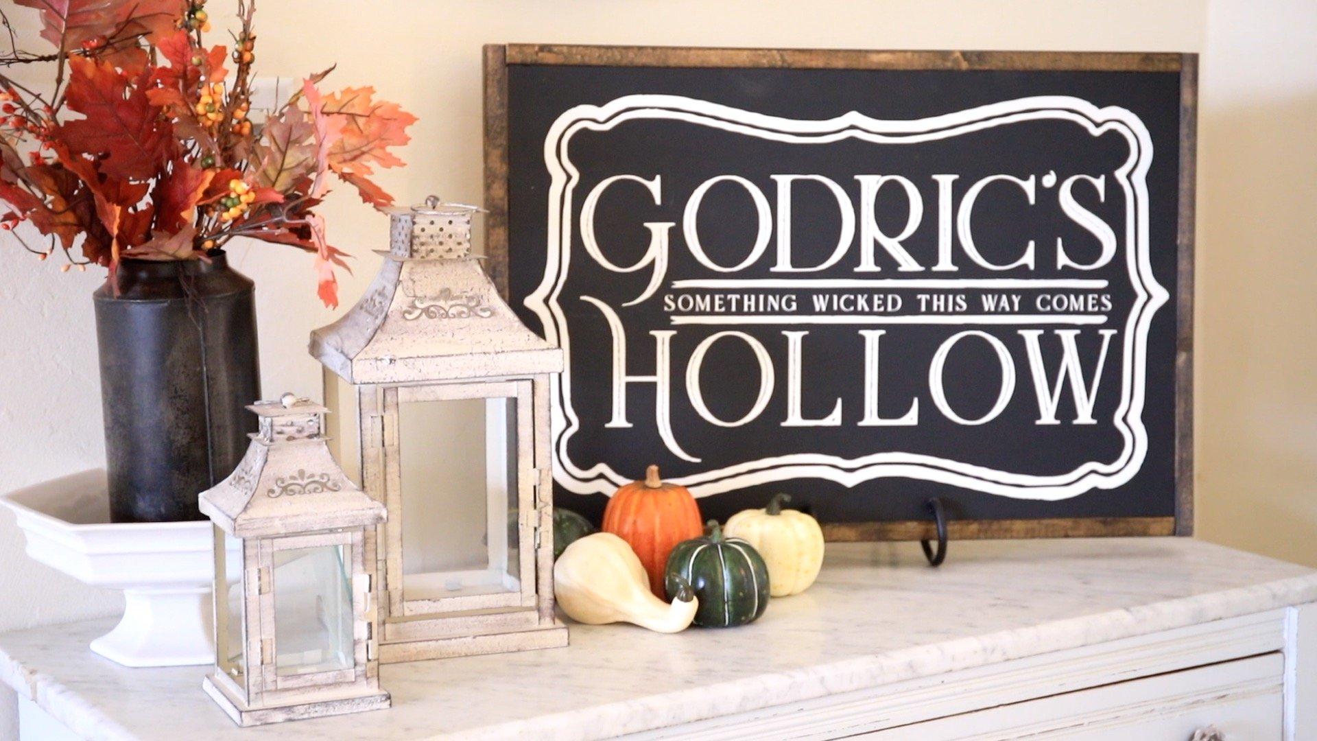Harry Potter DIY Room Decor-Godrics Hollow Sign13